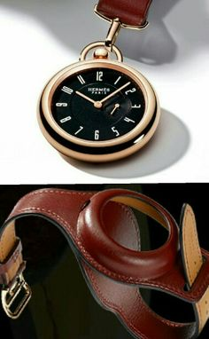 "Hermès ""In The Pocket"" Watch For The Only Watch - created in 2012 exclusively to pay homage to the porte-oignon that was given to Jacqueline Hermès by her father in 1912. Jacqueline was an avid equestrian and a very active child. The leather strap design of the watch allowed Jacqueline to keep time and ride freely without the bother of having to put the watch in her pocket. Aside from functionality, the holder fully protected the pocket watch during bumpy rides. ""She was very energetic,""…"