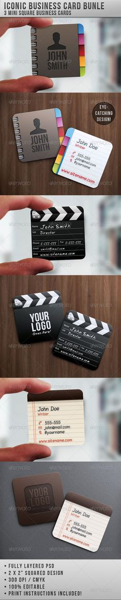 unusual mini business cards