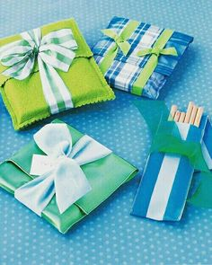 Embalagens de tecido para embrulhar presentes @i_is_for_idea