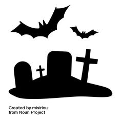 How to Make Cheap Last-Minute Halloween Window Decoration #halloween #decoration #decor #cheap #last-minute #spooky #scary #creepy #diy #template #stencil #example #bat #bats #cemetery #crosses #tobstone #tombstones #window #walls #silhouette #silhouette