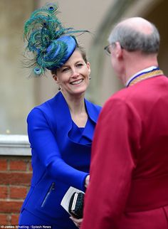 Sophie, Countess of Wessex came up top in the fashion stakes for Easter service at Windsor castle today 31.3.2013.