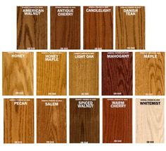 General Finishes Oil Base Stain Wood Color Chartwood