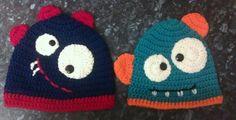 Kooky monster beanies/ Crochet