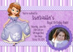 Sophia The First Birthday Invitation PLUS Thank por All4LinKaeJac, $7.00