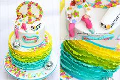 Love Peace 70's themed Cake by Sheena Henry