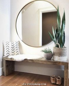 40 Incredible Stylish Small Entrance Ideas – Page 34 of 43 - Dekoration Ideen Home Design, Modern Interior Design, Design Ideas, Design Styles, Wall Design, Diy Design, Design Trends, Diy Home Decor On A Budget, Cheap Home Decor