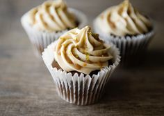 used this on apple cider cupcakes. And i made homemade caramel sauce for it. Caramel Buttercream Frosting, Salted Caramel Frosting, Homemade Frosting, Frosting Recipes, Cupcake Recipes, Baking Recipes, Cupcake Cakes, Dessert Recipes, Salted Caramels