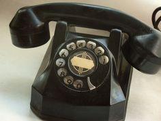 Bakelite dial telephone - Art Deco era.