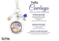 Dallas Cowboys Floating Locket Charm Collection