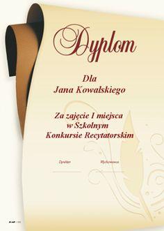 Dyplomy Dyplom Wzory dyplomów Dyplom szablon Kreator dyplomów Dyplomy szablony…