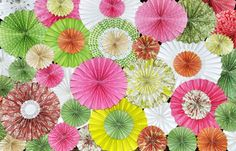 Pink and Green KaLollie Paper Rosette Backdrop for by KaLiceEvents, $175.00