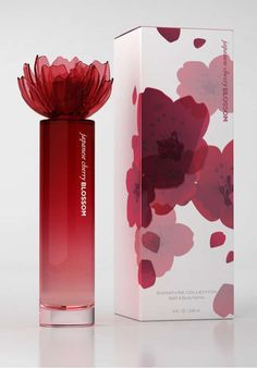 Japanese Cherry Blossom Packaging - Rarely do perfume bottles suggest the smell stored within them, rather striving simply to embody a physical beauty to complement their aromatic con. Perfume Packaging, Cool Packaging, Bottle Packaging, Beauty Packaging, Brand Packaging, Branding, Parfum Chic, Packaging Inspiration, Perfume Diesel