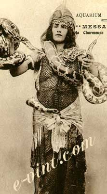 Vintage Circus Snake Charmers Image Detail