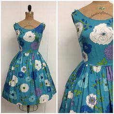 1960s Sundress 60s Floral Dress on Etsy, $198.00