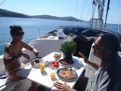 breakfast on board Chios, Sailing, Sun, Breakfast, Board, Sweet, Summer, Boating, Sign