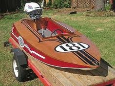 minimax boat racer ile ilgili görsel sonucu Wooden Speed Boats, Wooden Boats, Boat Crafts, Water Crafts, Old Boats, Small Boats, Bass Fishing Boats, Vintage Boats, Power Boats