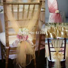 BITFLY X100 Champagne Wedding Organza Chair Cover Sashes Sash Party Banquet Decor Bow Colours-in Sashes from Home & Garden on Aliexpress.com | Alibaba Group