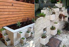 Betonblöcke-für-tolle-DIY-Möbel-und-DIY-Blumenkübel Vertical Garden Diy, Decoration, Survival, Green, Outdoor Decor, Plants, House, Gardens, Hunting