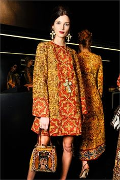 Dolce & Gabbana Fall 2013 From the talented Sicilian designers! (You know you want to see Sicily!) info@customitalytours.com