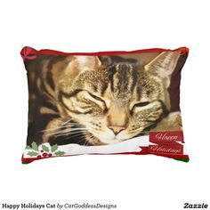 Rest your head on one of Zazzle's Happy Holidays decorative & custom throw pillows. Store Design, Decorative Throw Pillows, Happy Holidays, Cat Lovers, Kitty, Cats, Christmas, Animals, Little Kitty