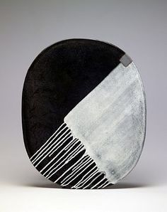 Jun Kaneko - Oval 04-04-06, 2004, Glazed ceramic