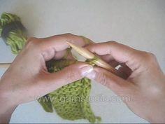 DROPS Knitting Tutorial: How to bind off wrong side