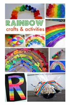 Rainbow Painting - Simple Summer Crafts - No Time For Flash Cards