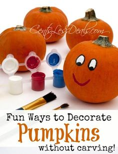 Ways to decorate a pumpkin without carving!