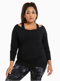 b5287b63d3aec Torrid Active - Off Shoulder Sweatshirt