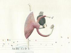 Pasos de baile entre letras… bailando al ritmo de la lectura (ilustración de Evangelina Prieto)