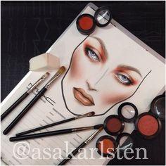 Makeup Inspo, Makeup Inspiration, Beauty Makeup, Eye Makeup, Mac Looks, Mac Makeup Looks, Face Stencils, Stencil Art, Mac Face Charts