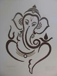 New Lovely Lord Ganesha Famous And Popular Lord Ganesha Wallpaper Collection. Ganesha Sketch, Ganesha Drawing, Lord Ganesha Paintings, Ganesha Art, Ganesh Tattoo, Hindu Tattoos, Ganesha Pictures, Indian Art Paintings, Elephant Tattoos