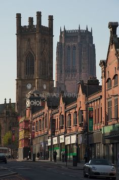 Renshaw Street, Liverpool - St Luke's bombed out church and Anglican Cathedral