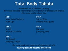 Tabata Tuesday: of Bodyweight Strength & Cardio {Workout} - Peanut Butter Runner Strength Workout At Home, At Home Workouts, Body Workouts, Workouts Hiit, Quick Workouts, Fitness Exercises, Plie Squats, Crunches, Tabata Cardio