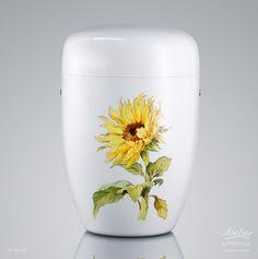 Urnen Individuell gestaltet | Sonnenblume EDITION Botanika Cremation Urns, Jar, Mugs, Tableware, Home Decor, Urn, Sunflowers, Dinnerware, Decoration Home