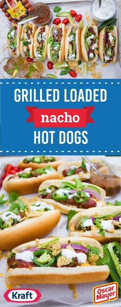 Grilled Loaded Nacho Hot Dogs – It's BBQ season—and that means it's time to whip up a new recipe by firing up the grill! And this combination of OSCAR MAYER Hot Dogs—now made with NO artificial preservatives colors or flavors, no added nitrites or nitrates (except those naturally occurring in celery juice), & NO fillers or by-products—KRAFT Cheddar Cheese, avocados, tortilla chips, & a tangy sour cream sauce is a great dish to start with. Find everything you need for this recipe at Walmart!
