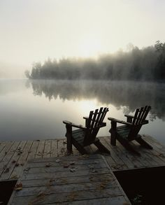 Papineau Lake, Canada - I can almost imagine sitting there now with my fishing pole too :-P