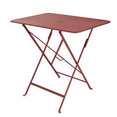Table De Jardin Bistro 77 X 57 Cm Rouge Piment Castorama Table De Jardin Bistro Rouge Table De Balcon