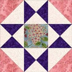 """Ohio Star Quilt Block Pattern Variation - 3 sizes: 6"""", 9"""", 12"""""""