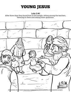 Sunday School Lesson: Boy Jesus in the Temple (Luke 2:41