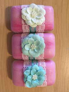 Hand decorated soaps