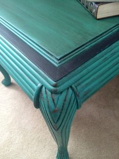 End Table painted in Florence by Annie Sloan, distressed with light and dark wax