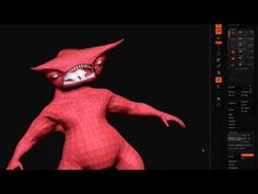 (▶) zBrush Tips for OBJ Import, zSphere Retopology and Detail Projection (Part 1)