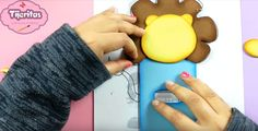 Cubre interruptor de goma eva con forma de león - Manualidades en Goma Eva y Foami Ideas, Cover, Crafts For Kids, Jelly Beans, Shapes, Unicorn