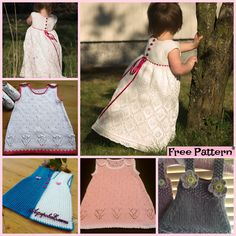 10 Most Unique Knitting Baby Dress – Free Patterns Knitting Patterns Free, Knit Patterns, Baby Knitting, Crochet Baby, Free Pattern, Knit Crochet, Easy Knit Baby Blanket, Knitted Baby Cardigan, Knitted Baby Blankets