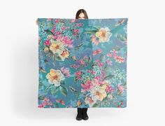 Floral Ocean III by Valentina Sevza #floral #women #fashion #moda #scarves