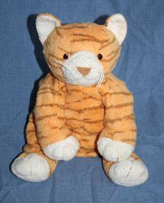 Ty Purrz Orange Kitty Cat Pluffies Plush Stuffed Animal 2003 soft baby toy TyLux #Ty #Purrz #TyPluffies