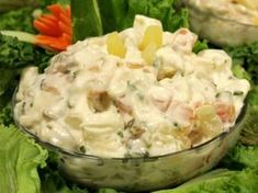 Hawaiian chicken salad is the best way to try the tropical taste. You can prepare this sweet and tangy salad in few steps. Give it a shot cuisiniers! Chef Recipes, Greek Recipes, Food Network Recipes, Food Processor Recipes, Cooking Recipes, Dishes Recipes, Recipies, Fruit Salad Recipes, Chicken Salad Recipes