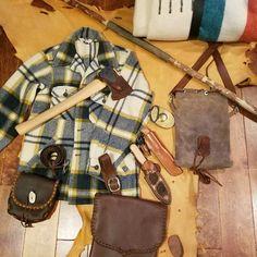 Grey Wolf Handcraft bushcraft gear. Waxed canvas, custom leather #bushcraftleathergear