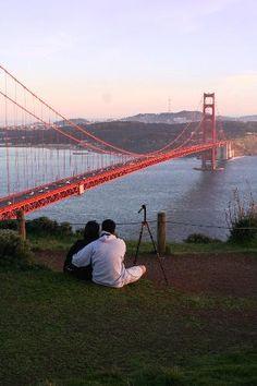 Golden Gate Bridge from the Marin Headlands #SanFrancisco